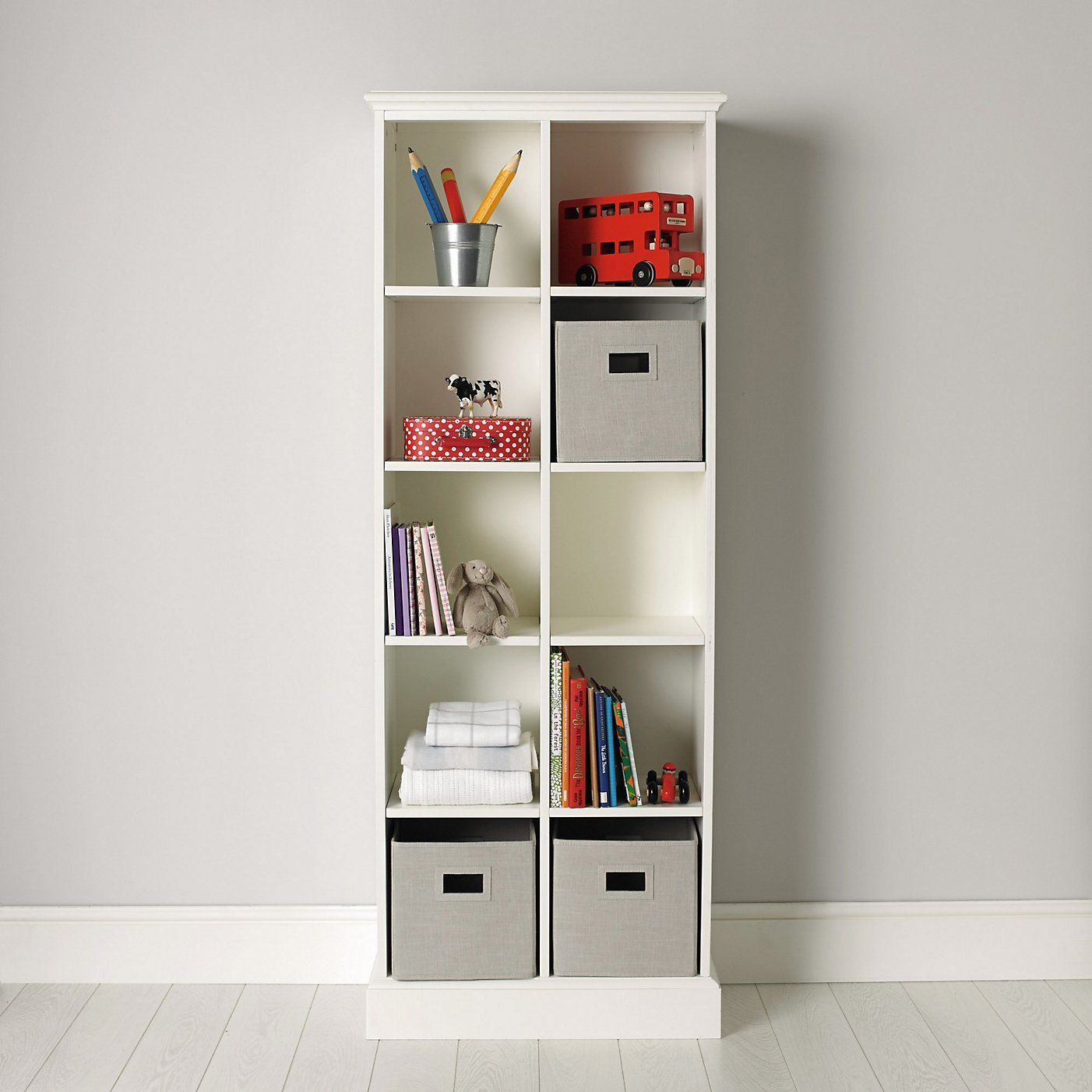 Classic 10 Cube Storage Unit Bedroom Furniture The White