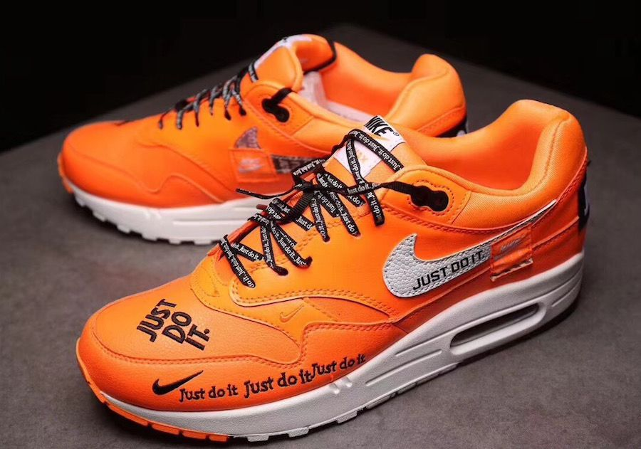 cute aliexpress unique design Nike Air Max 1 Just Do It Orange Release Date | Nike air max ...