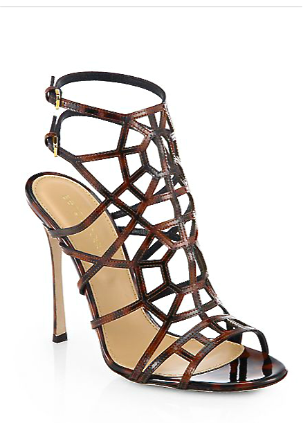 f2c36cb6f66f Sergio Rossi - Puzzle Patent Leather Sandals