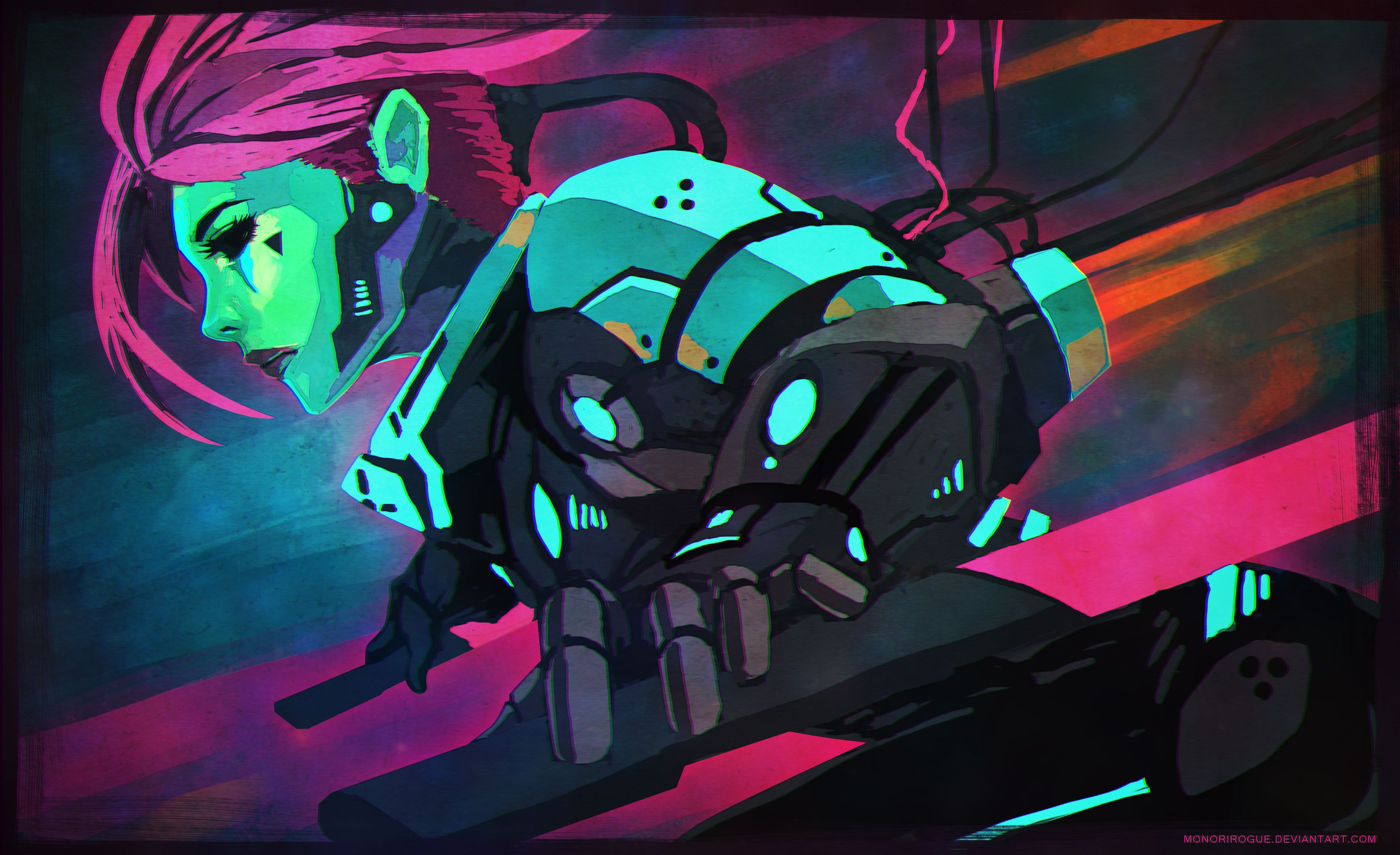 Cyberpunk doodle by MonoriRogue wallpapers (for pc