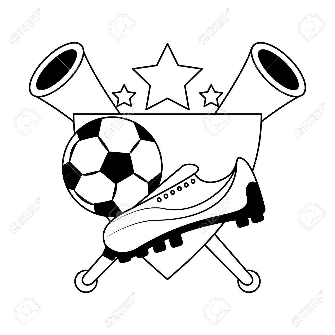 Soccer Football Sport Game Competition Play Activity Champion Player And Game Objects Cartoo Competition Games Graphic Design Illustration Illustration Design