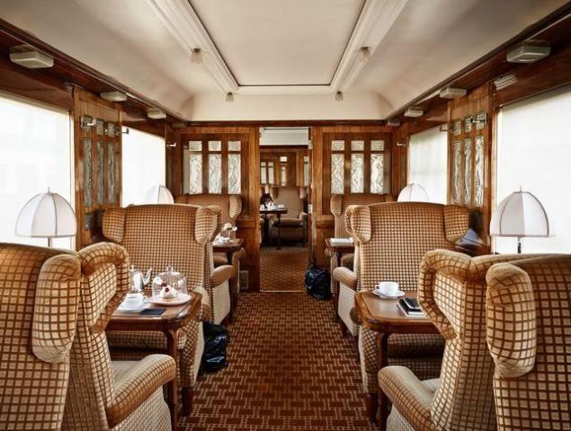 az Orient Expressz pazar enteriőrei
