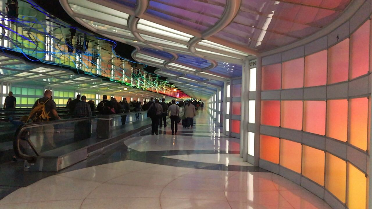 Chicago O'Hare Airport has this beautifully designed area in Terminal B.