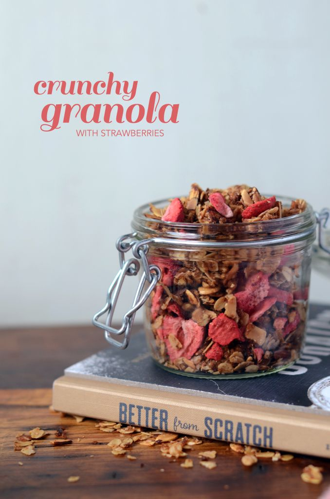 Crunchy Granola with Strawberries