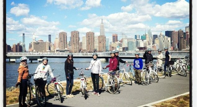 The Group Shot from the Brooklyn Bike Tour