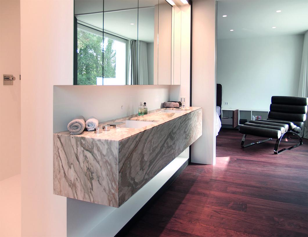 Een prachtig badkamermeubel in marmer ontwerp stijn ontwerpt