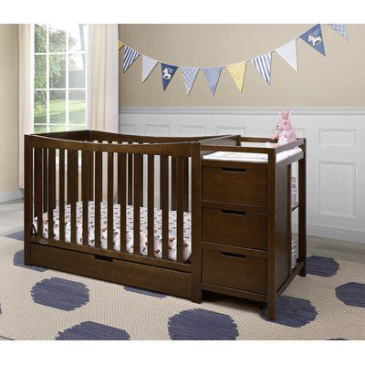 Graco Remi 3-in-1 Convertible Crib and Changer Combo Color: White in ...
