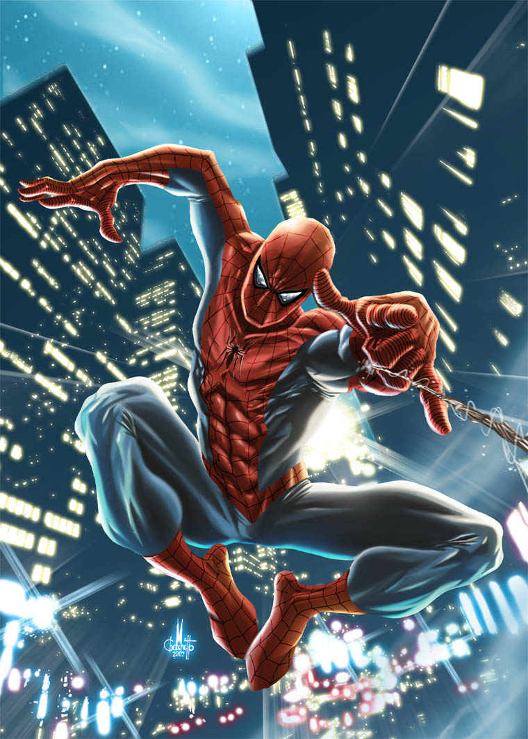 #Spiderman #Fan #Art. (Spider-Man) By: Marco Checchetto. (MAJOR ÅWESOMENESS!!!™)