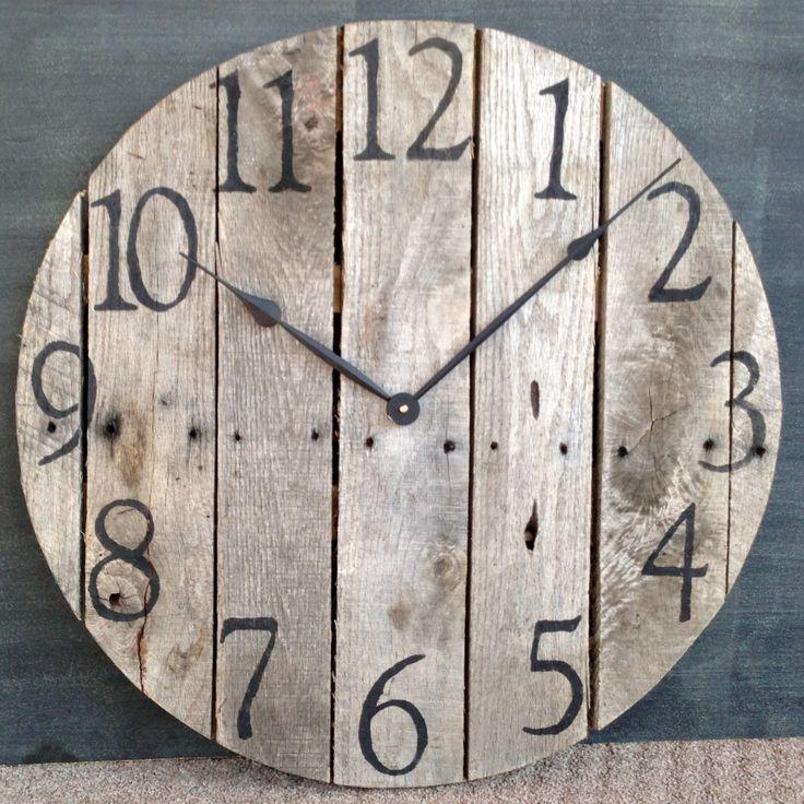 Pallet Wall Art Inspiration by Jen Stanbrook Rustic wall clocks