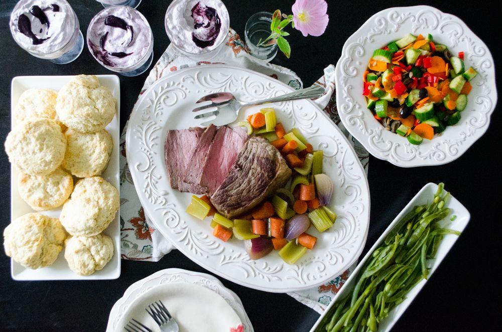 Enjoy this family dinner menu to accompany the children's book A Fine Dessert.