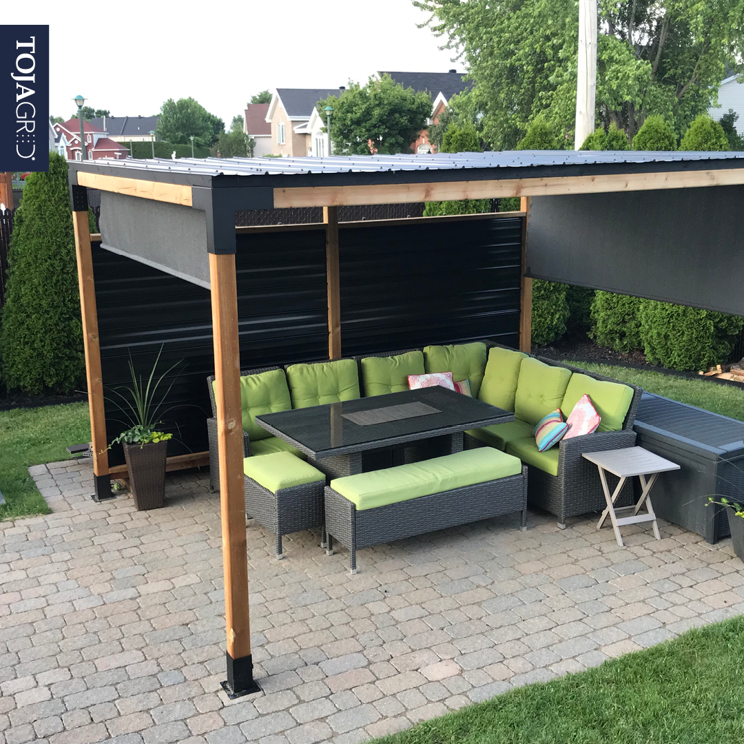Pergola Kit With Shade Sail For 4x4 Wood Posts In 2020 Patio Design Outdoor Pergola Pergola Patio