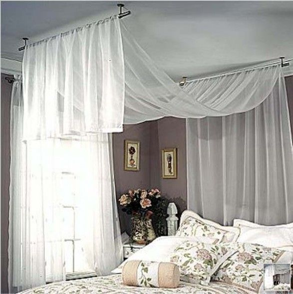 Hang Curtain Rod From Ceiling | NeilTortorella.com