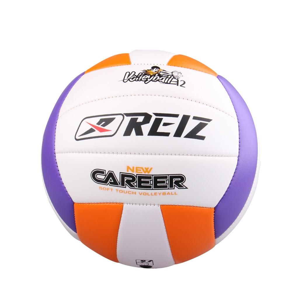 Reiz Beach Volleyball Official Size Indoor Outdoor Training Pu Leather Sport Ball Accessories Standart Soft Leath Volleyball Ball Volleyball Training