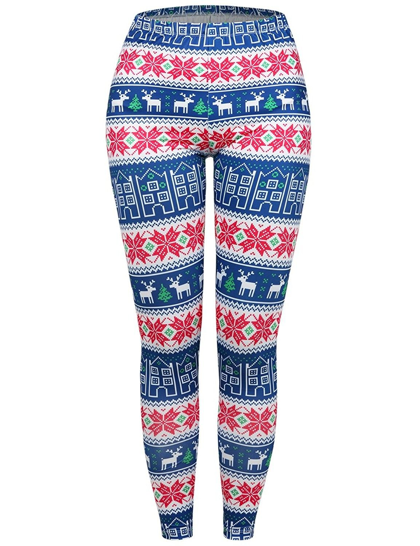 3ee649f491b44a Women's Clothing, Leggings, Women's Christmas Leggings Snowflake Stocking  Pants Stretchy Tights - Blue&red - CS1884I6M20 #women #fashion #clothing  #style ...