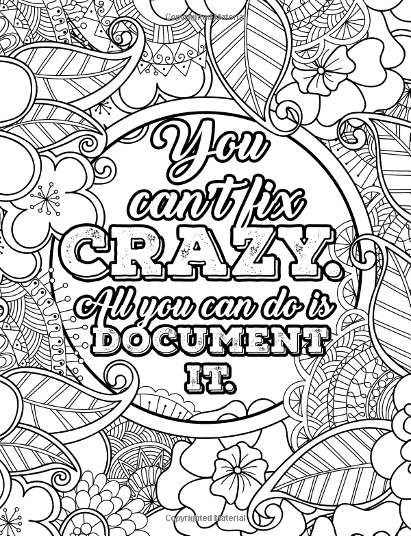 Nurse Coloring Book: Funny Adult Coloring Books For Nurses ... | free online coloring pages for adults funny