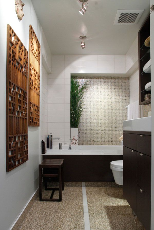 22 Eclectic Ideas Of Bathroom Wall Decor Home Design Lover Zen Bathroom Design Eclectic Bathroom Restroom Decor