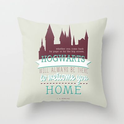 J.K.Rowling quote (Harry Potter) Throw Pillow....... I NEED THIS!!!!!!!!!!!!!!!!