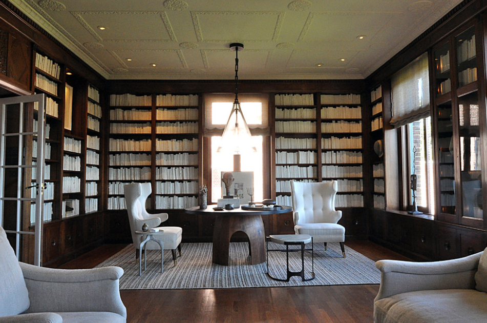 Modern home library.