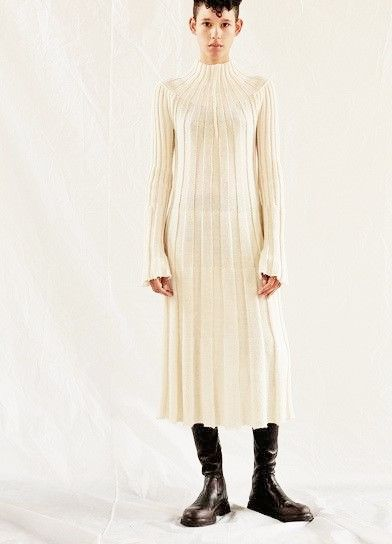 Robe laine beige