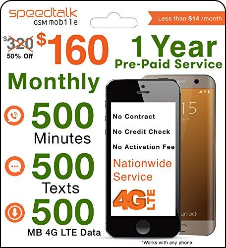 Price Tracking For 1 Year Prepaid Gsm Sim Card Monthly 500 Talk 500 Txt And 500 4g Lte Data No Contract 12 Months Plan 9258 Price History Chart And Drop