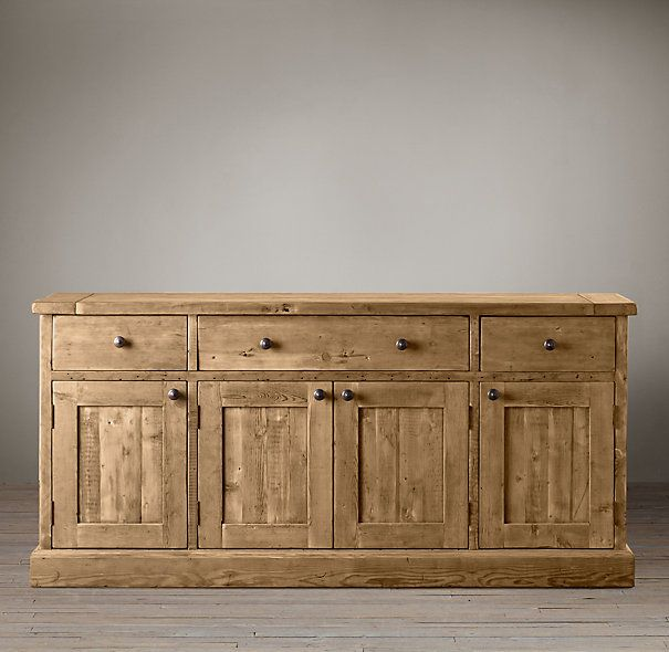 Looking For A Large Scale Distressed Wood Buffet Sideboard Salvaged Dining