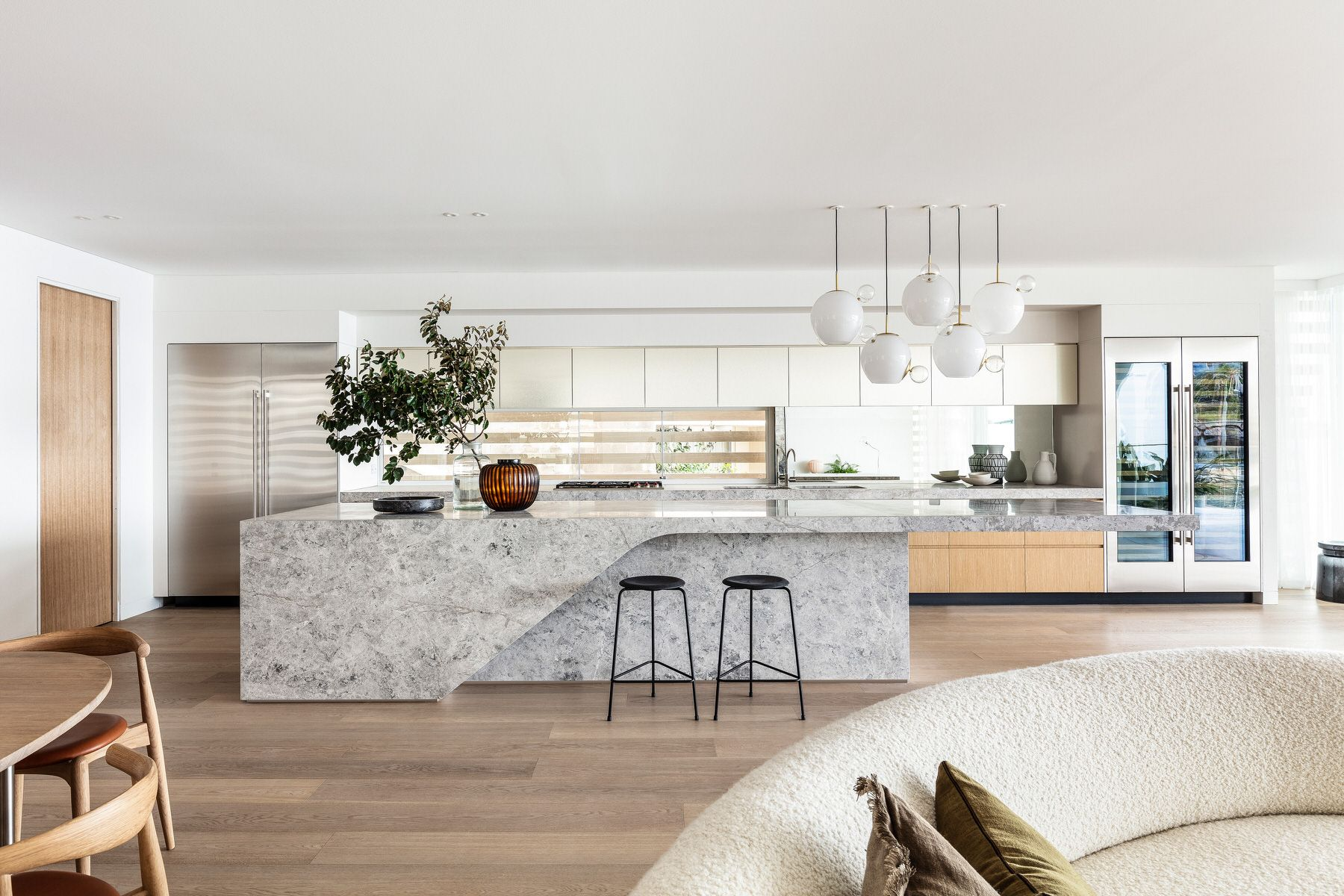 Bower Manly Apartments By Mim Design Koichi Takada Yellowtrace In 2020 Mim Design Stone Kitchen Island Kitchen Interior
