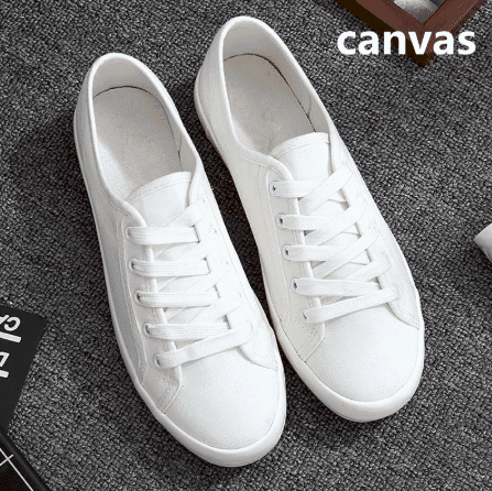 Trendy White shoes teenage girls in
