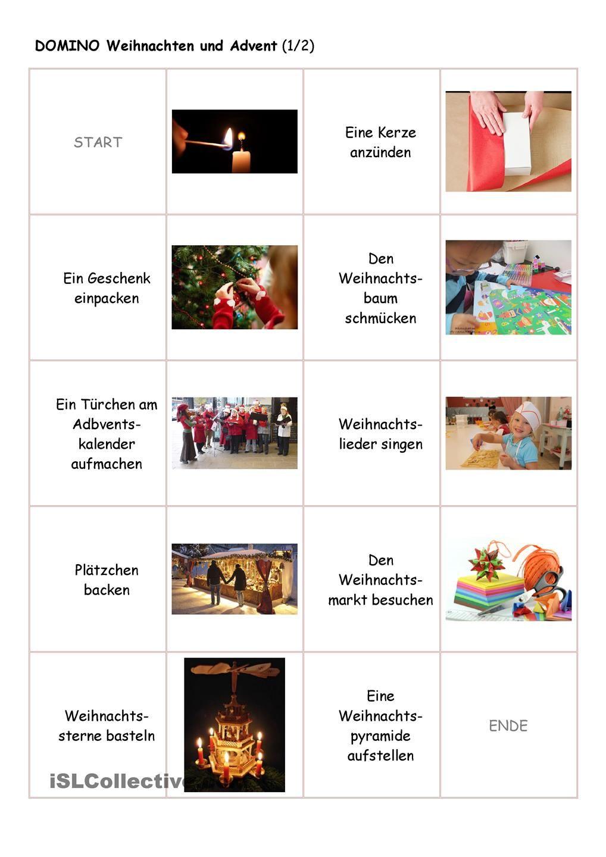 Weihnachten domino 1 2 weihnachten daf daz natal no curso de alem o deutsch e german - Weihnachten daf ...