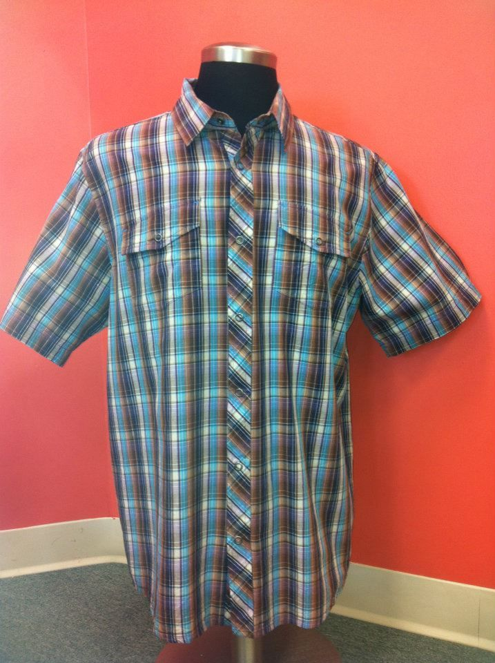 Classic Short Sleeve button down- Perfect for this hot weather. NEW PRODUCT!