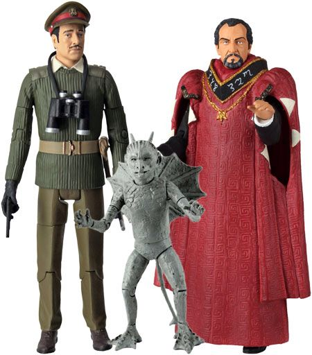 78. The Dæmons set: contains the Brigadier (with gun), the Master and Bok