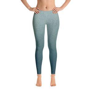 e9c28ce2101 gray blue gradient grunge texture Leggings | Yoga legging pants