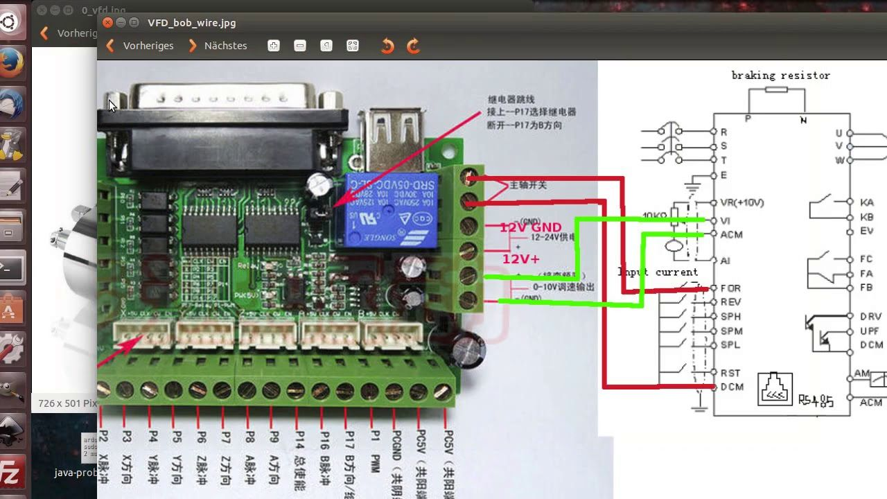 On Off Switch Wiring To Vfd Spindle Diagram A How Cnc Db25 1205 Full Config Wire Youtube Cnchow