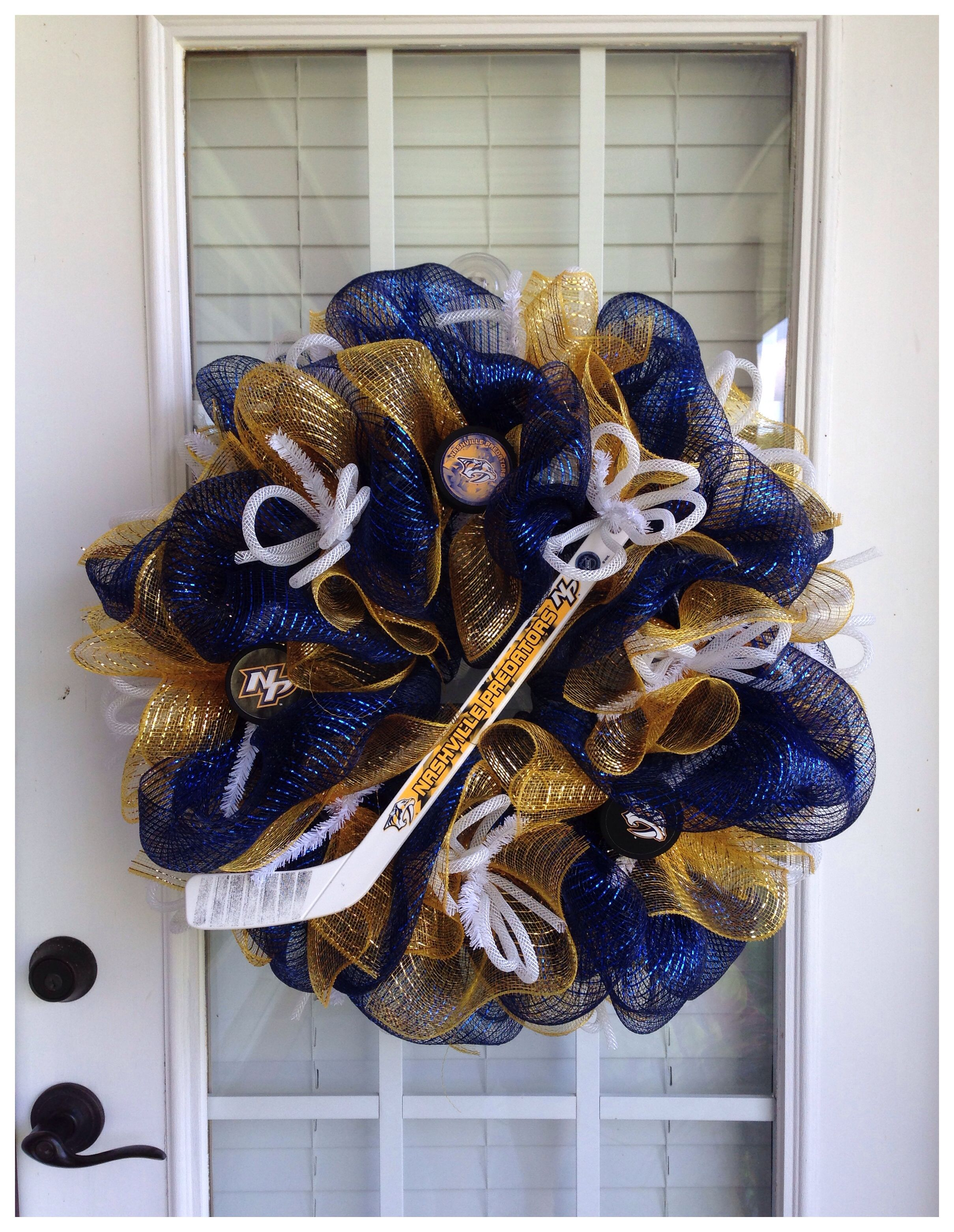 sports shoes f338a 03532 Nashville Predators Deco Wreath. Can someone make this for me !!