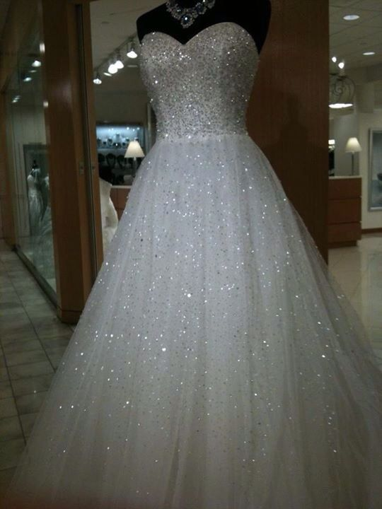 Christmas Party Dress White Bride Sequin Sparkly fancy costume Princess Wedding