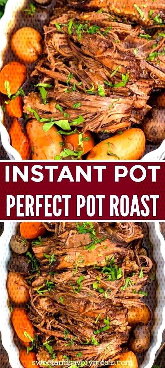 Best Instant Pot Pot Roast that is so tender it melts in your mouth, with perfect veggies that are