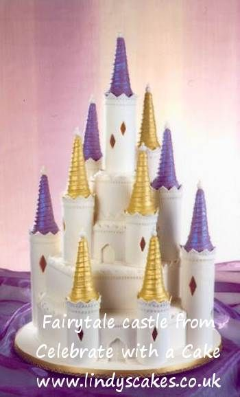 need inspiration for a multi tiered stacked cake for a wedding or large celebration cinderella castle - Multi Castle Ideas