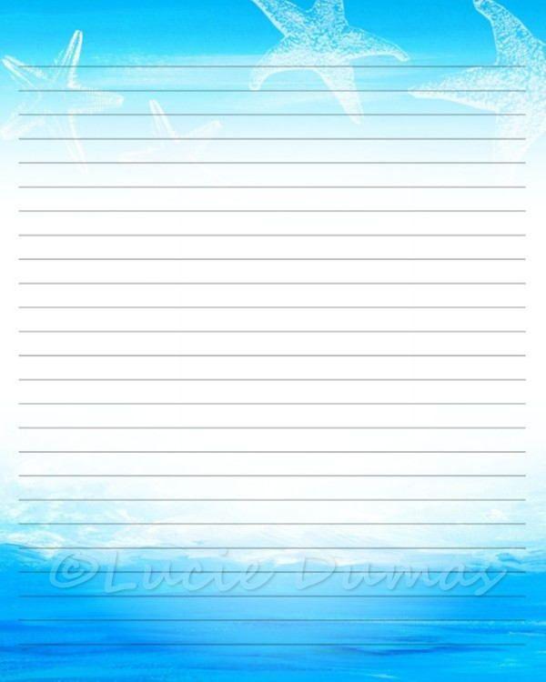 digital printable journal page abstract 13 sea ocean starfish blue