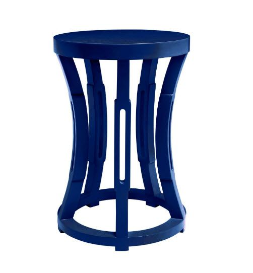 Bungalow5 Hourglass Stool Or Side Table In Navy Blue For Sale   Cottage U0026  Bungalow