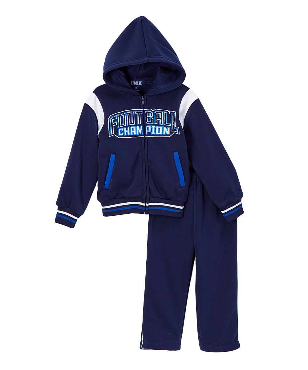 f7864961f Navy 'Champion' Hoodie & Sweatpants - Infant Toddler & Boys ...