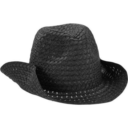 Womens Straw Cowboy Hat Black Walmart And Products