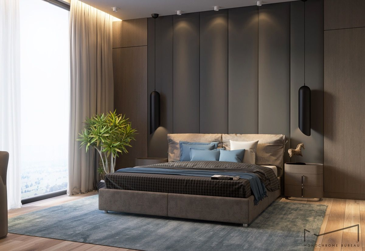 Best 44 Awesome Accent Wall Ideas For Your Bedroom Modern 400 x 300