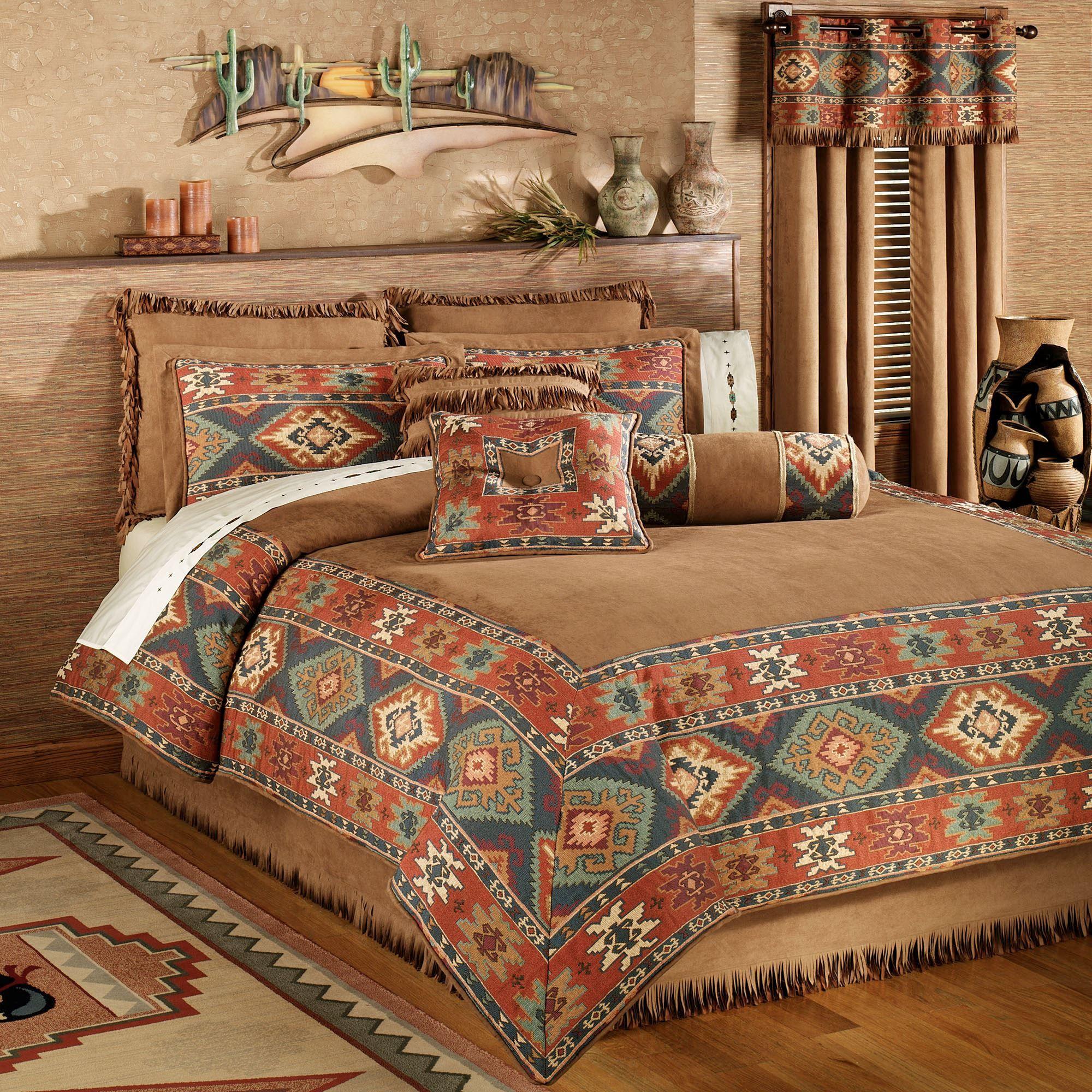 Pin By Kathy C King On Aaaa Southwest Bedroom Southwest Bedding Rustic Comforter