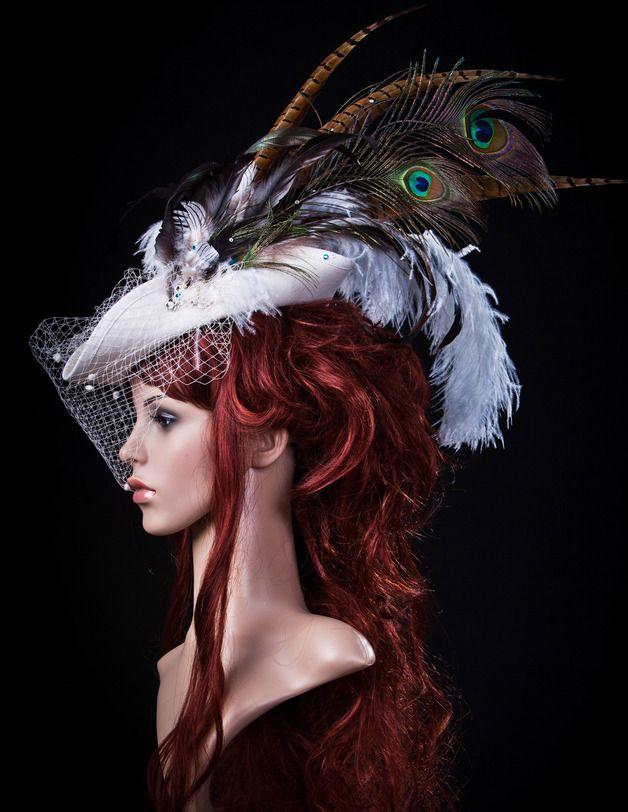 Hut Karneval Federn Hats Extravagante Hute Gothic Dreispitz