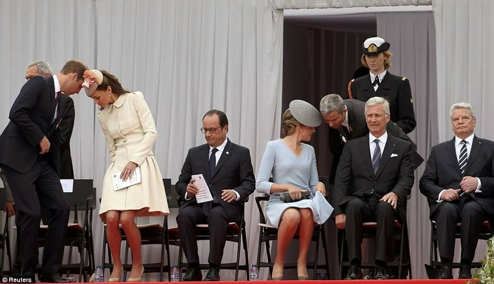 04 AUGUST King Philippe and Queen Mathilde with Prince William,Princess Kate and President Hollande. 1