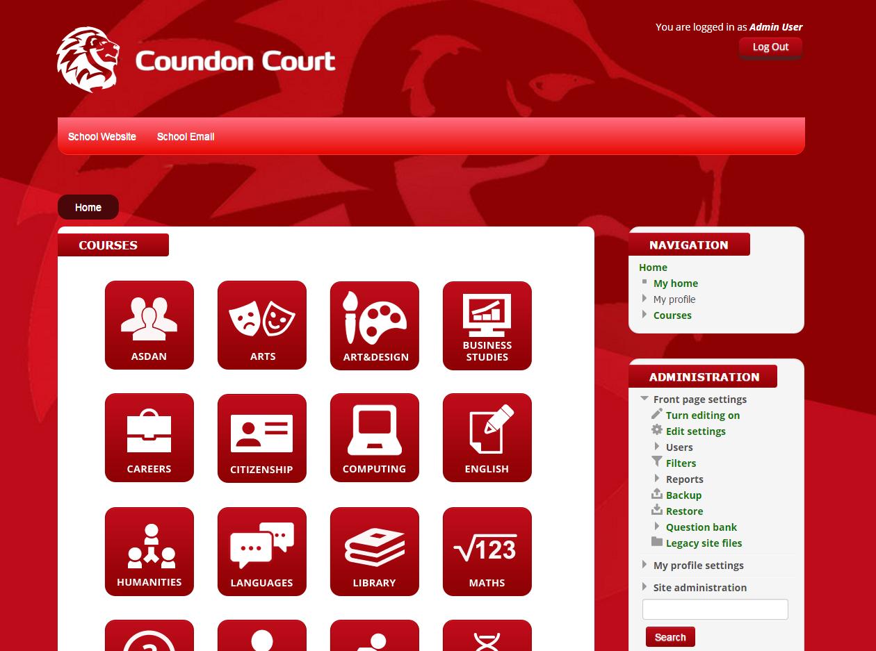 School Website Design Primary and Secondary School