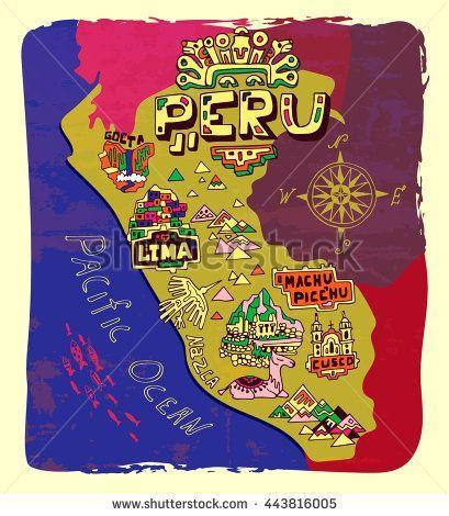Image result for peru map caRTOON | Peru map, Peru travel, Peru