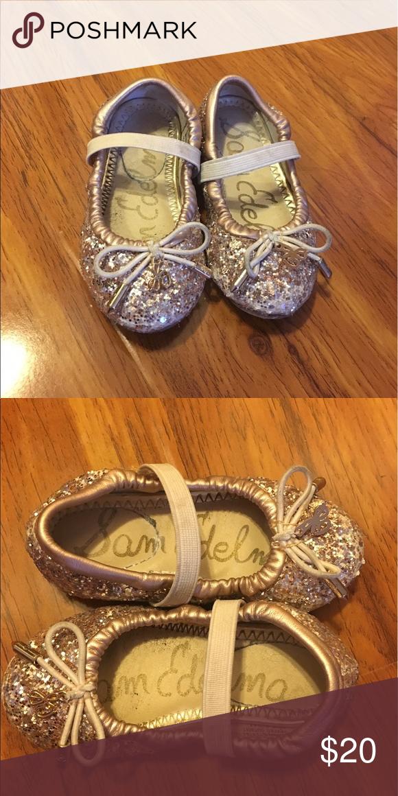 Sam edelman shoes, Gold glitter shoes