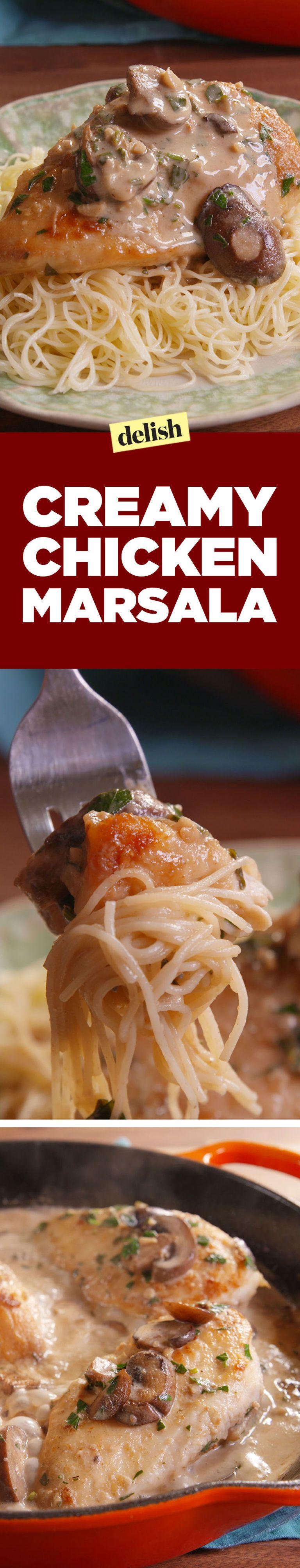 Creamy Chicken Marsala Is A Gift From Italian Gods Recipe Recipes Chicken Marsala Chicken Recipes