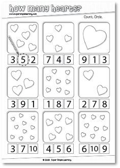 Valentine's Worksheets | Worksheets, Kindergarten and February