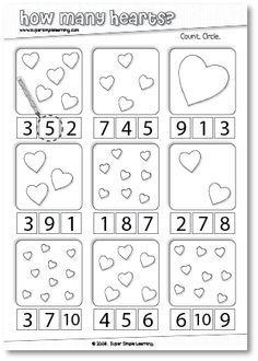 Valentines Day Math  Denenecek Projeler  Pinterest  Maths Pre